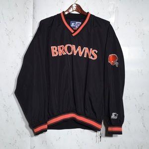 🔥 Cleveland Browns 90s Starter Pullover Jacket L